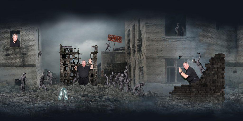 zombie apocalypse panoramic print