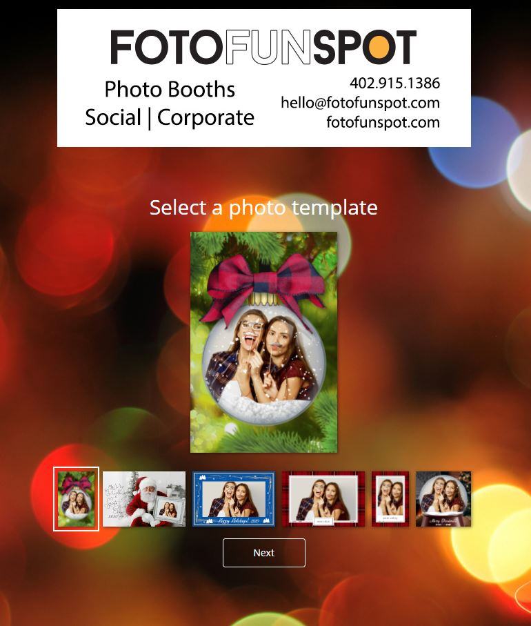 virtual photo booth photo with santa select template