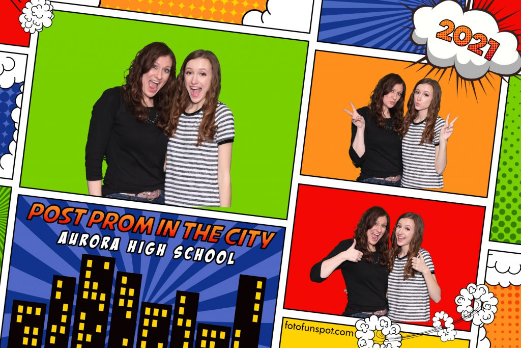 Output from chroma key green photo booth